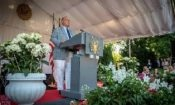Ambassador McMullen gives remarks at the 4th of July Celebration, Bern, Switzerland 2018