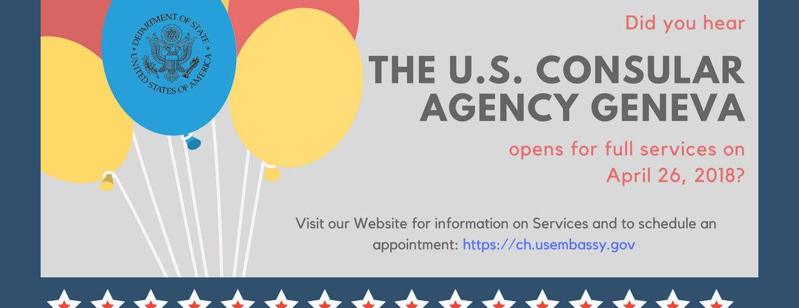 Re-Opening of U.S. Consular Agency in Geneva