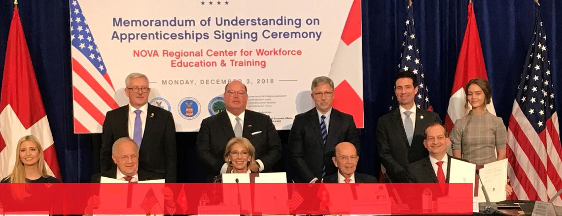 The Signing of a Memorandum of Understanding on Apprenticeships